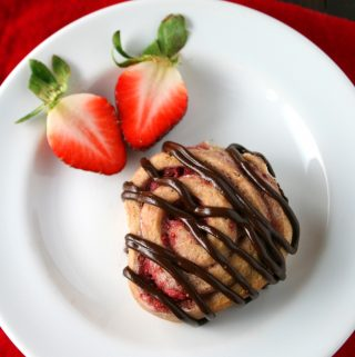 Strawberry and Dark Chocolate Sweet Rolls