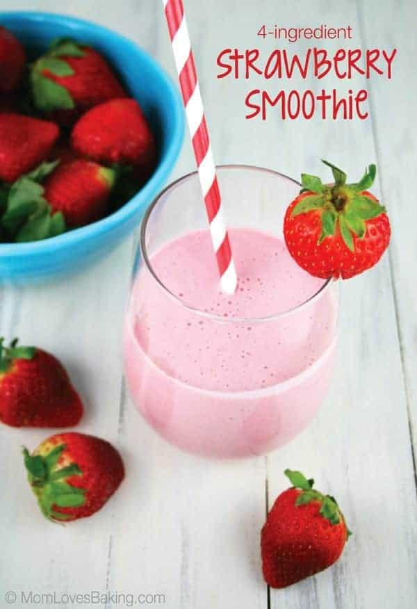 4 Ingredient Strawberry Smoothie