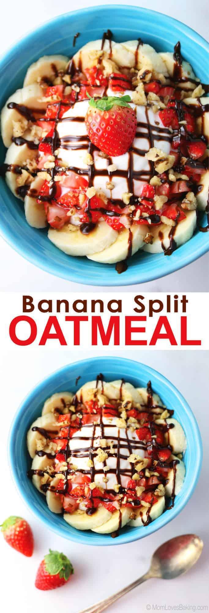 Banana Split Oatmeal