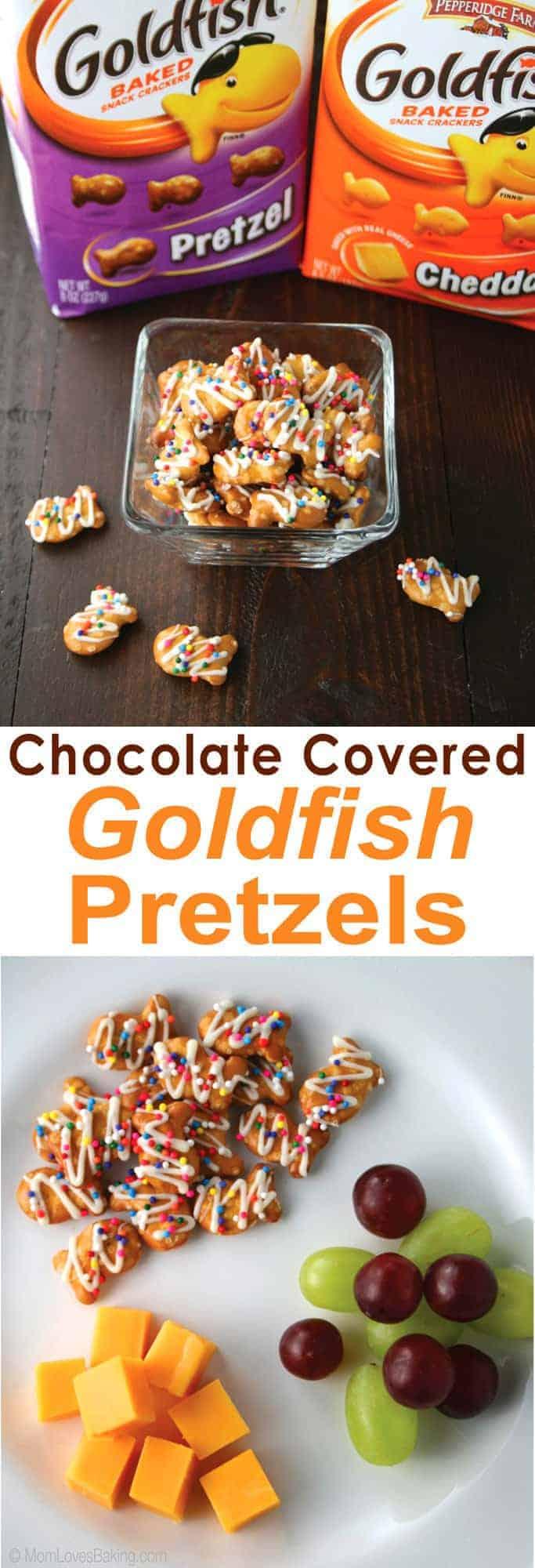 Chocolate Covered Goldfish Pretzels