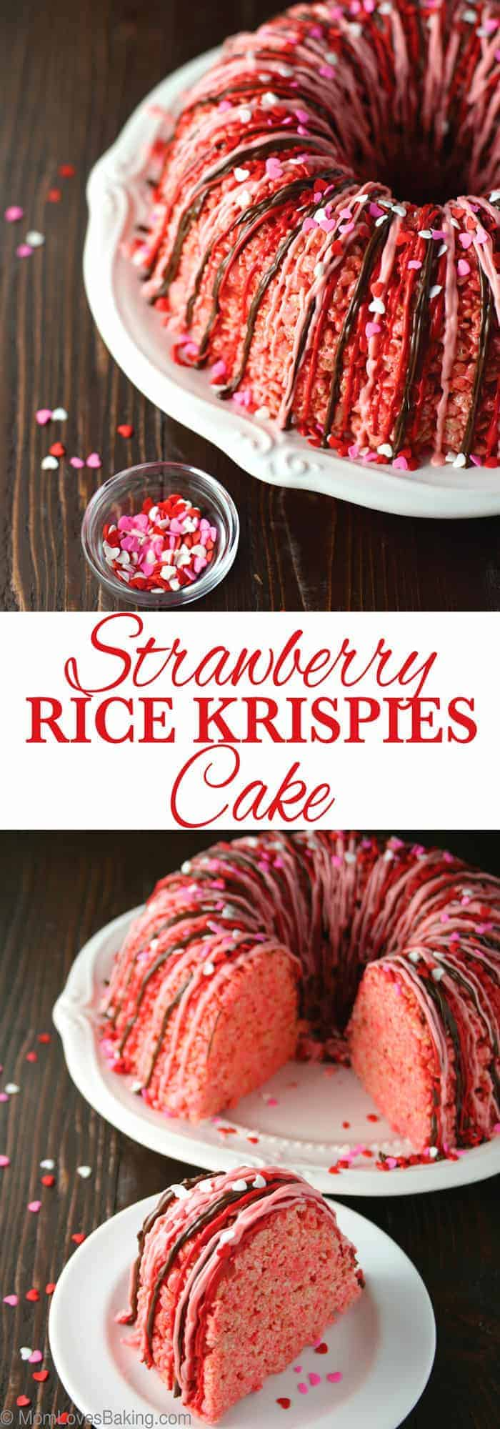 Strawberry Rice Krispies Cake