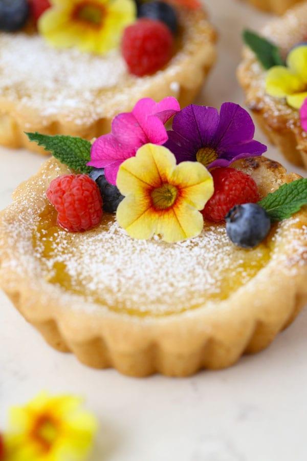 Honey lemon tartlets