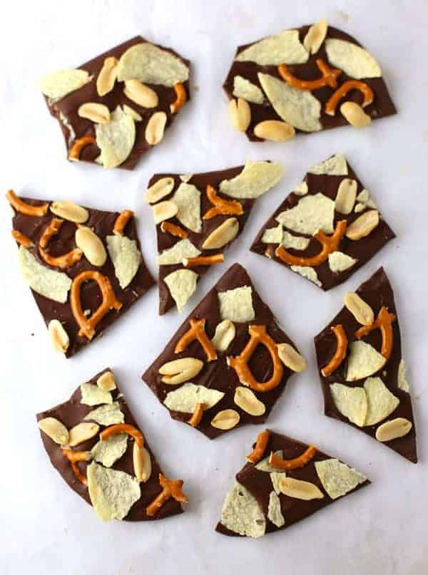 Salty Sweet Chocolate Bark