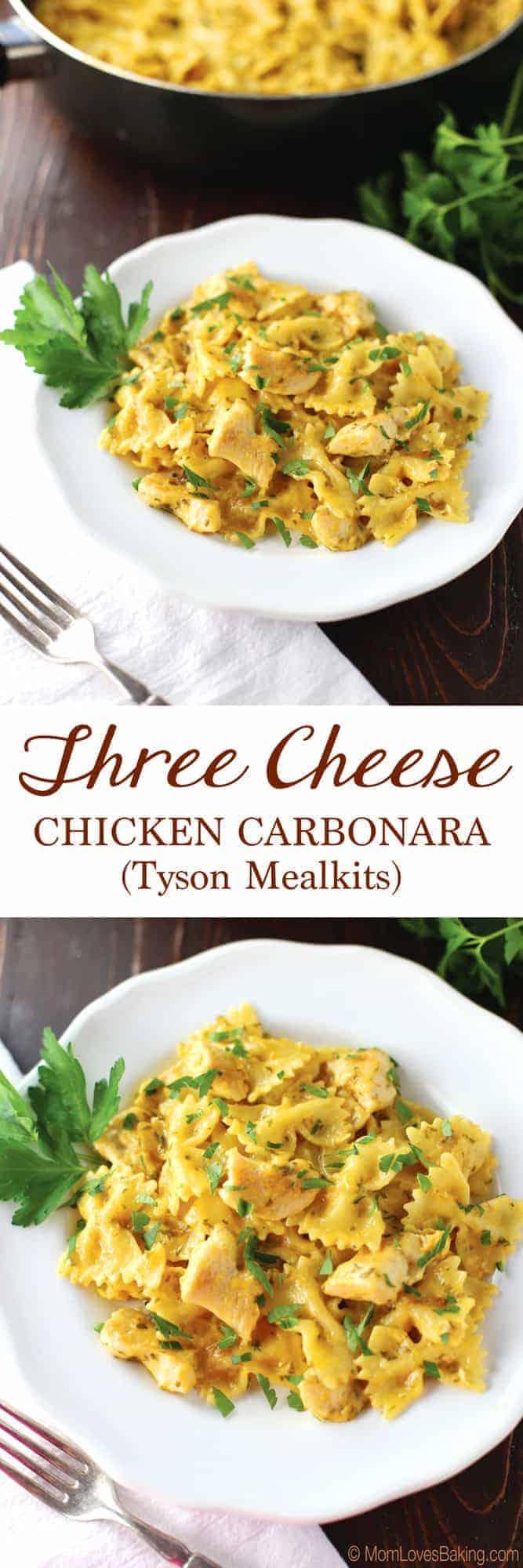 Three Cheese Chicken Carbonara