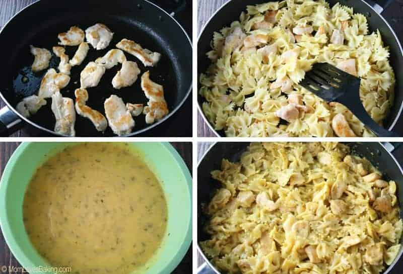 Three Cheese Chicken Carbonara