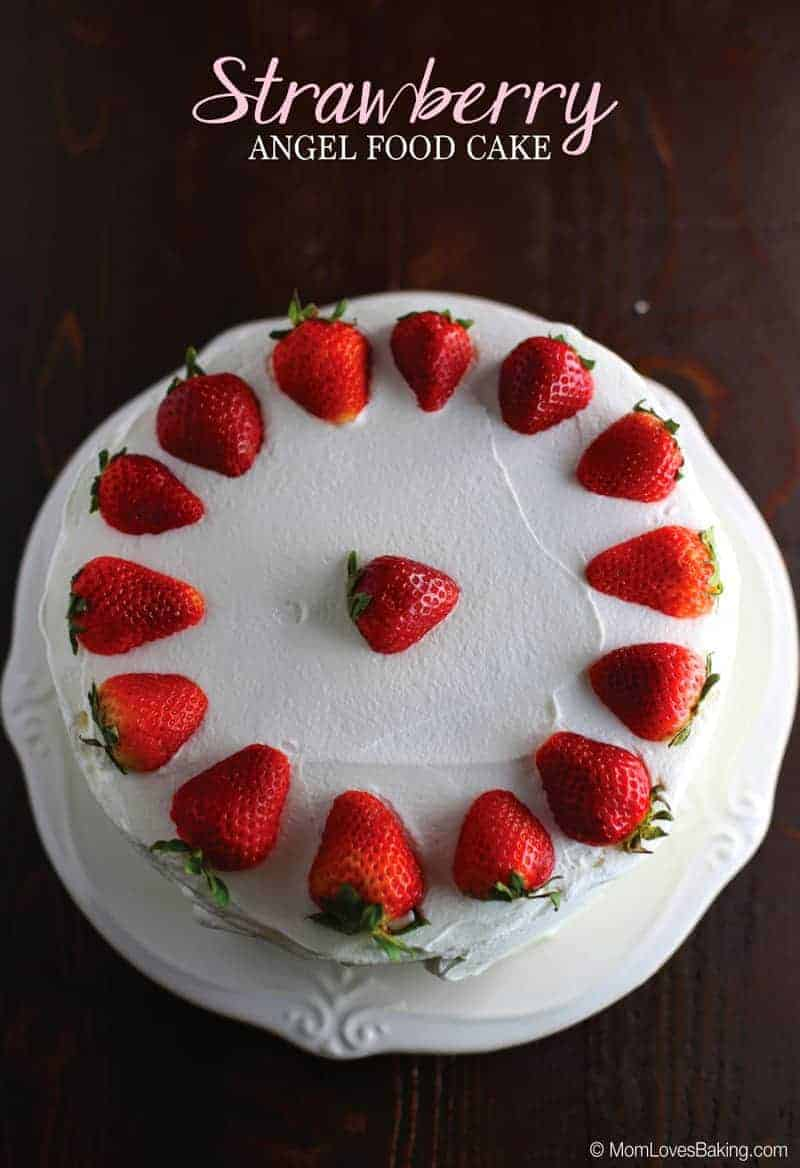 Strawberry Angel Food Cake