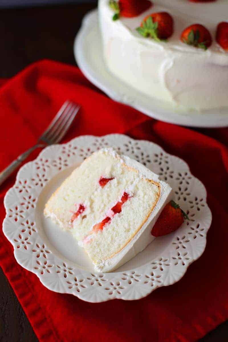 Strawberry angel food cake mom loves baking strawberry angel food cake forumfinder Choice Image