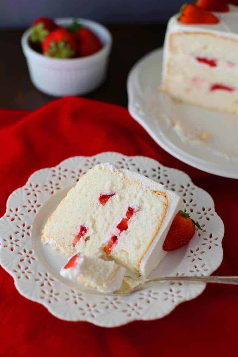 Strawberry Angel Food Cake Mom Loves Baking