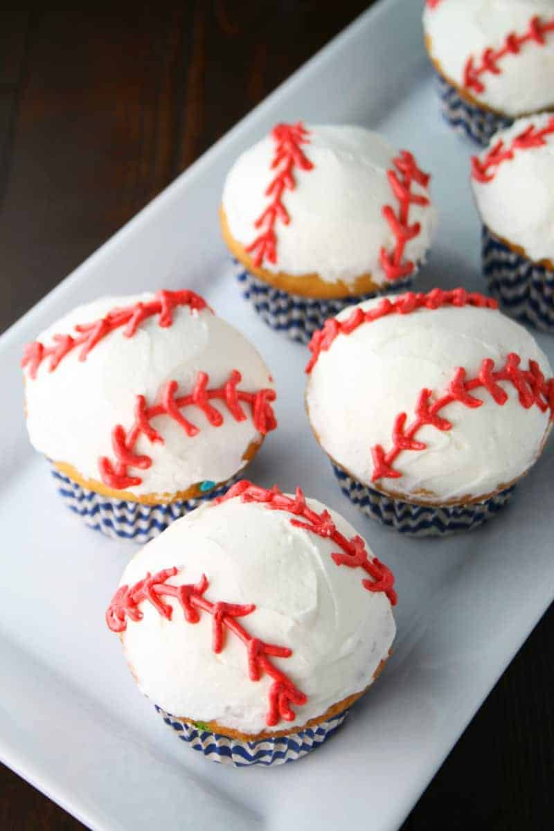 Baseball Cupcakes Mom Loves Baking