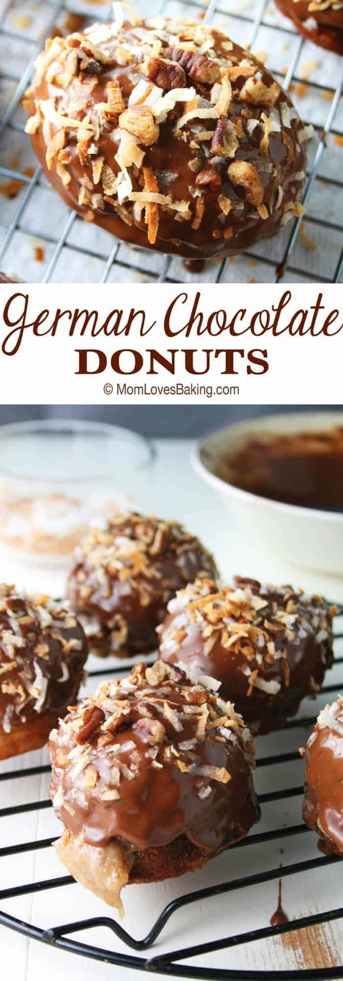 German Chocolate Donuts