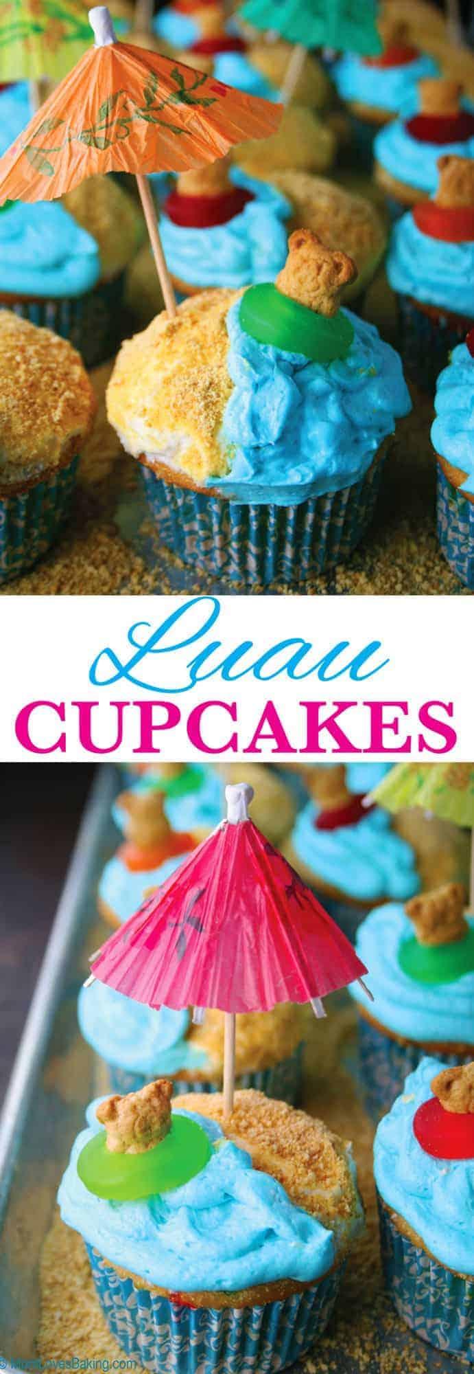 Luau Cupcakes