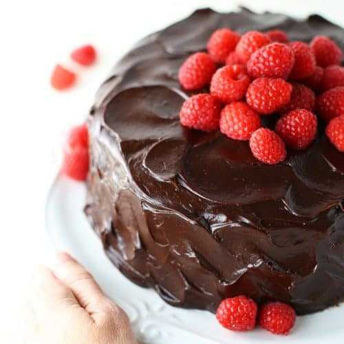 Chocolate Raspberry Layer Cake Mom Loves Baking