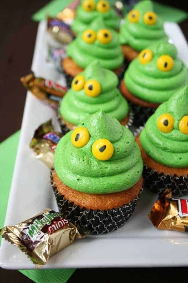 green ghost cupcakes with slime mom loves baking. Black Bedroom Furniture Sets. Home Design Ideas
