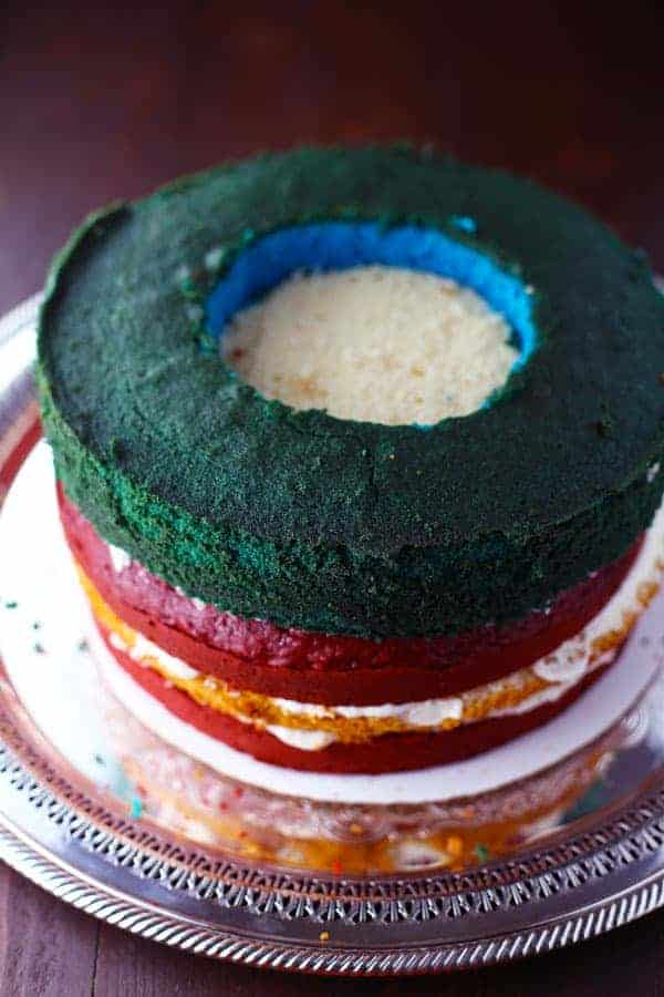 American Flag Surprise Cake