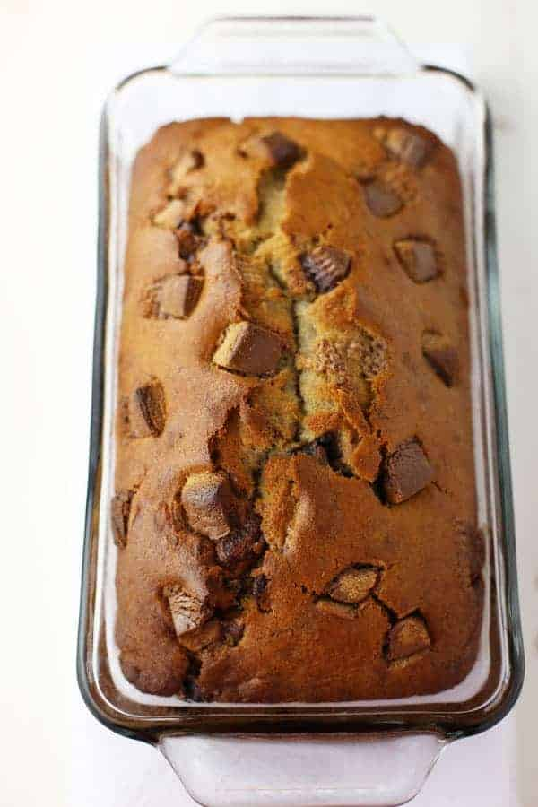 Reese S Peanut Butter Cup Banana Bread Mom Loves Baking