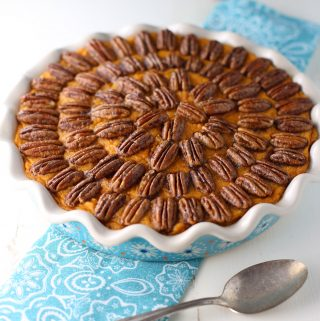Sweet Potato Casserole with Maple Pecan Topping