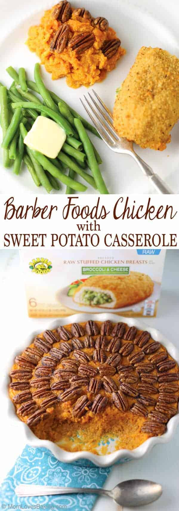 Barber Foods Chicken with Sweet Potato Casserole