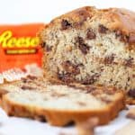 Reeses Peanut Butter Cup Banana Bread