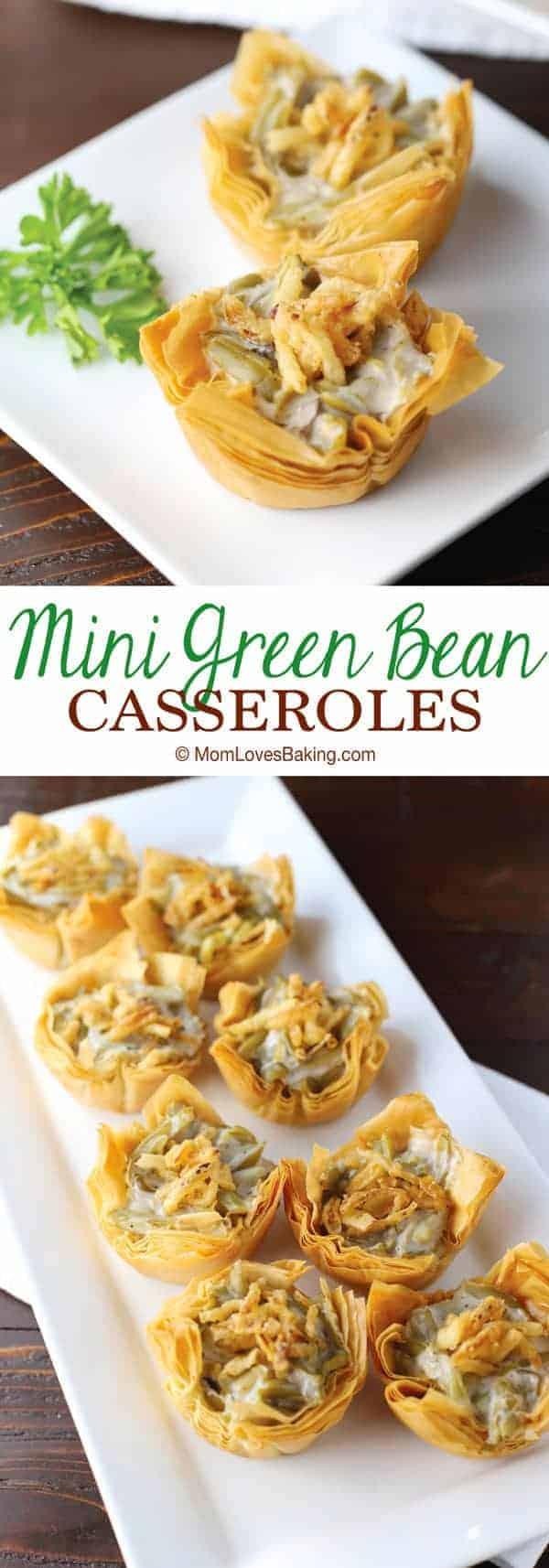 Mini Green Bean Casseroles