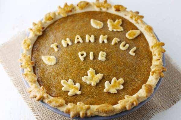Thankful Pumpkin Pie