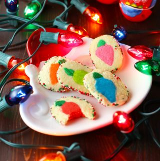 Christmas Lights Slice-N-Bake Cookies