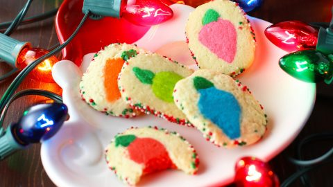Christmas Lights Slice N Bake Cookies