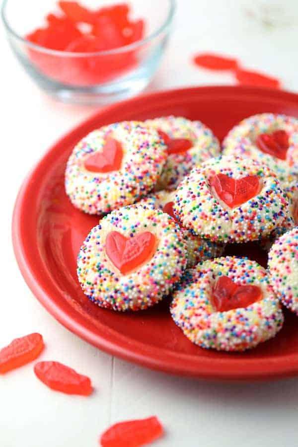 Swedish Fish Heart Cookies