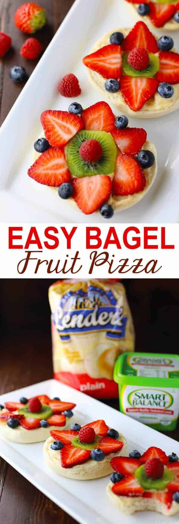 Easy Bagel Fruit Pizza