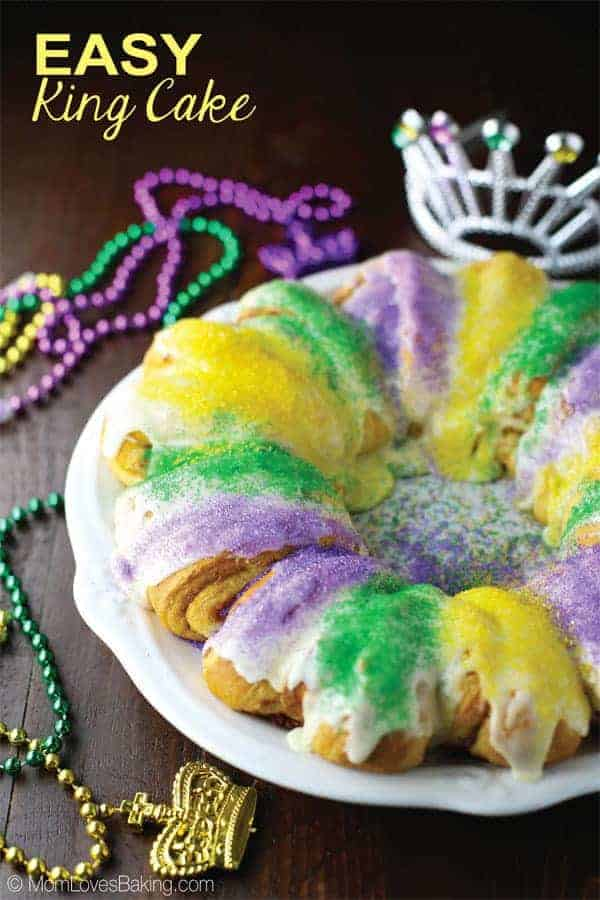 King Cake Made With Pillsbury Cinnamon Rolls