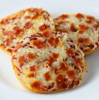 Mini Bagel Pizzas with Pepperoni