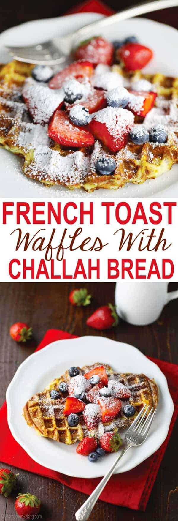 French Toast Waffles with Challah Bread