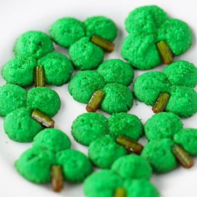 Shamrock Cookie Press Cookies