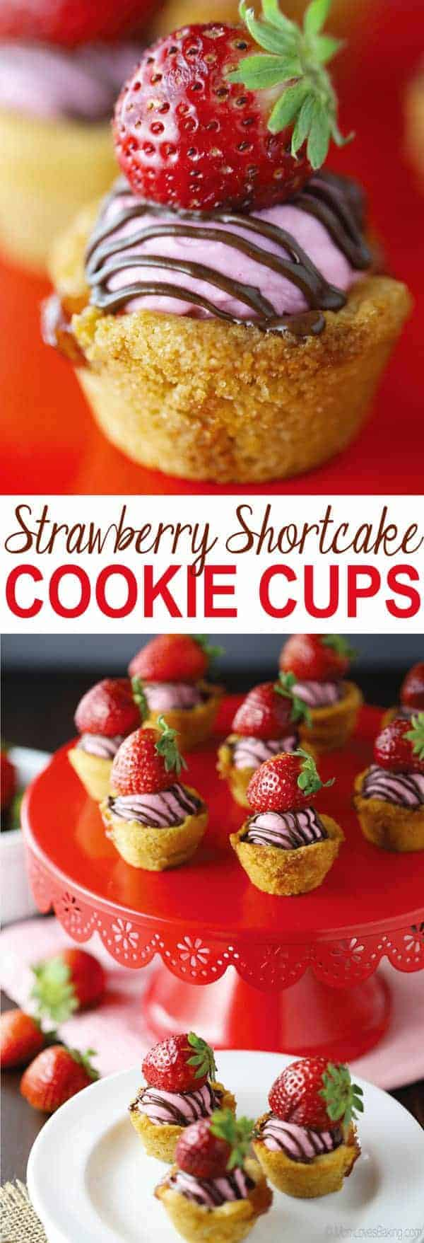 Strawberry Shortcake Cookie Cups