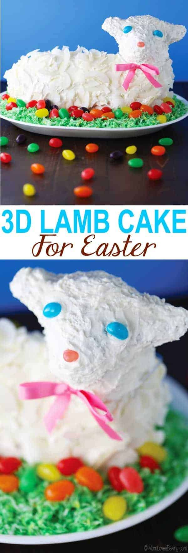 3D Lamb Cake for Easter