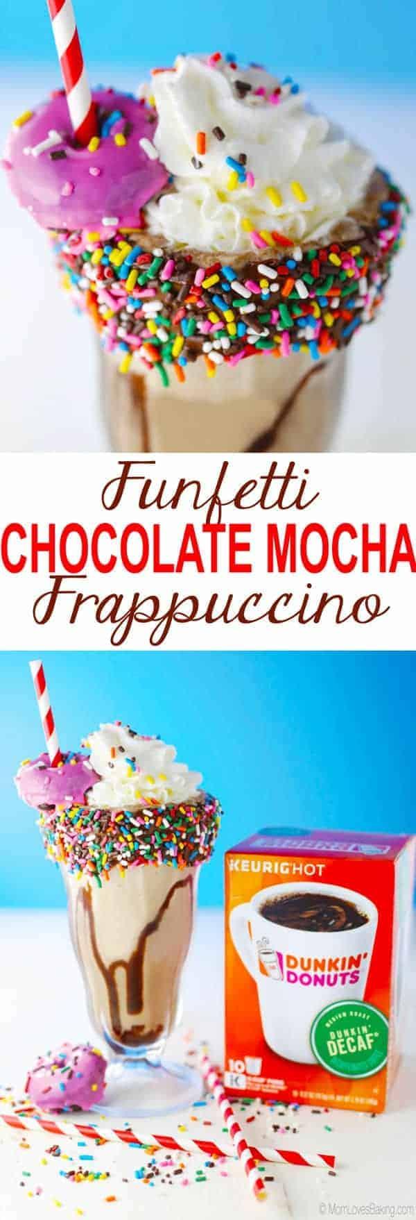 Funfetti Chocolate Mocha Frappuccino