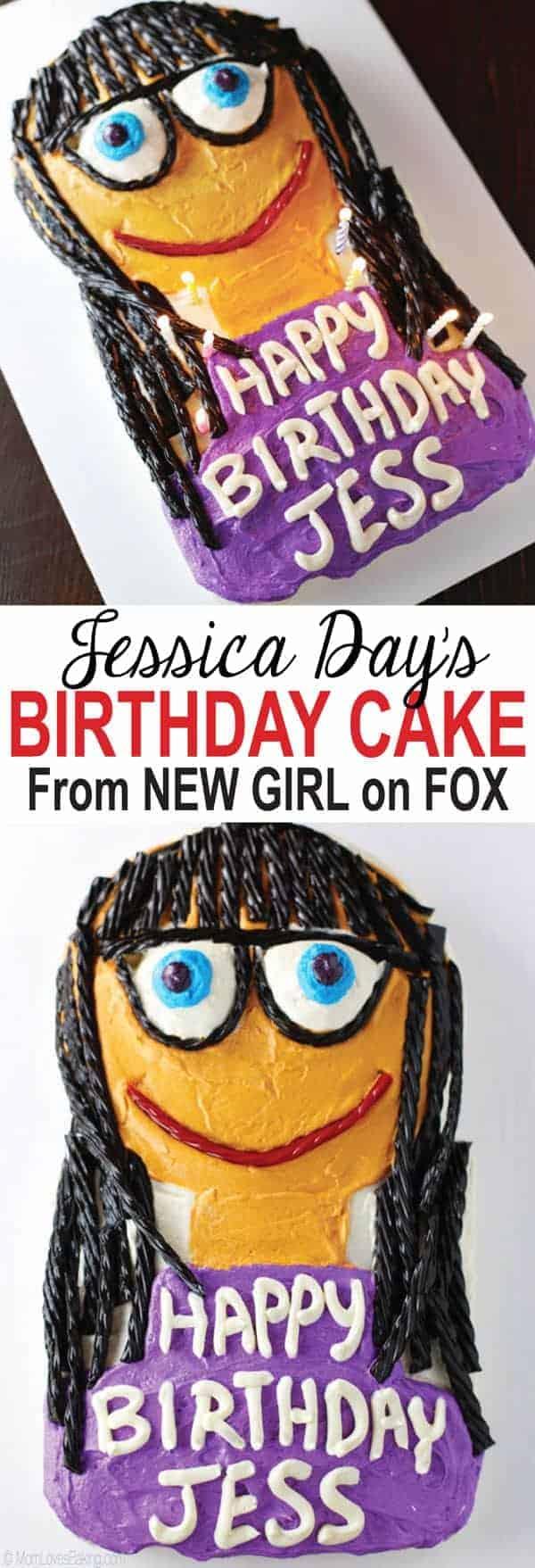 New Girl Birthday Cake