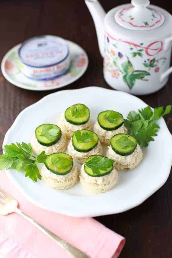 Tuna Cucumber Tea Sandwiches