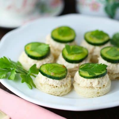 Tuna Cucumber Tea Sandwiches