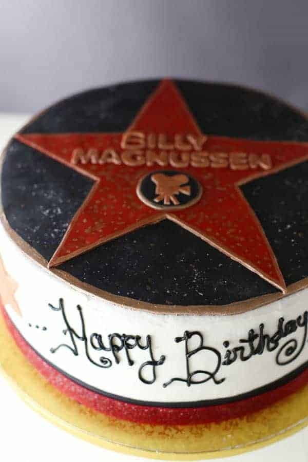 Hollywood Walk of Fame Star Cake