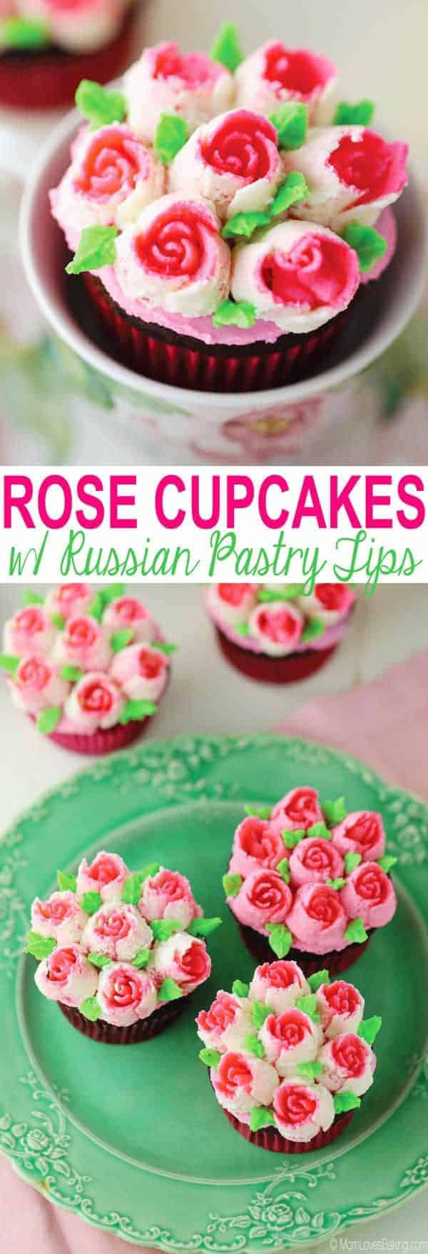 Buttercream roses with Russian pastry tips