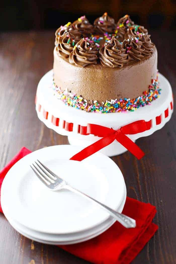 The best gluten free, dairy free chocolate birthday cake