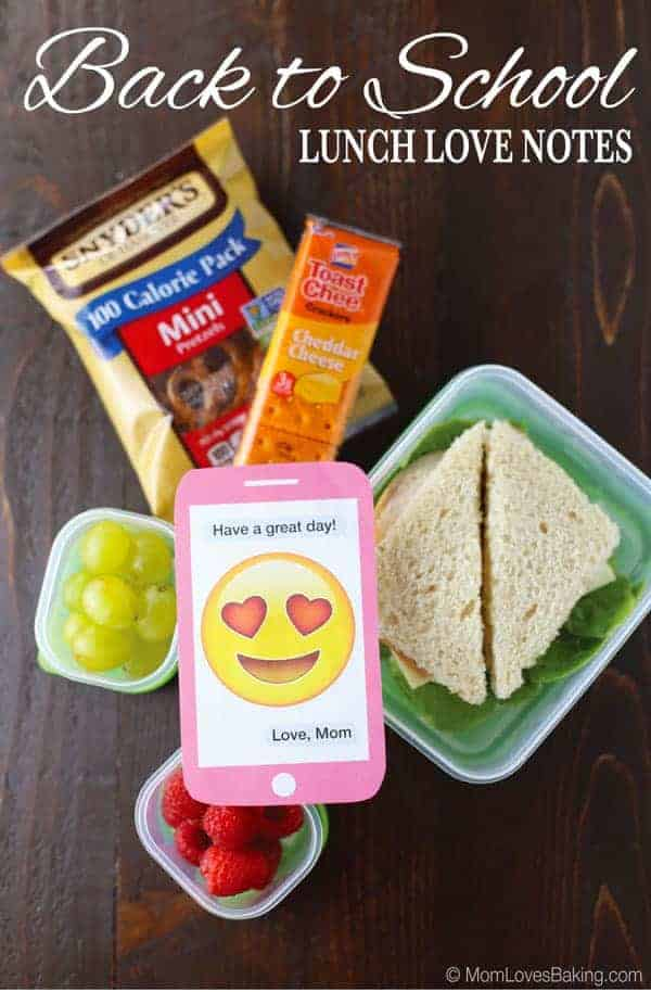 Back to School Lunch Love Notes
