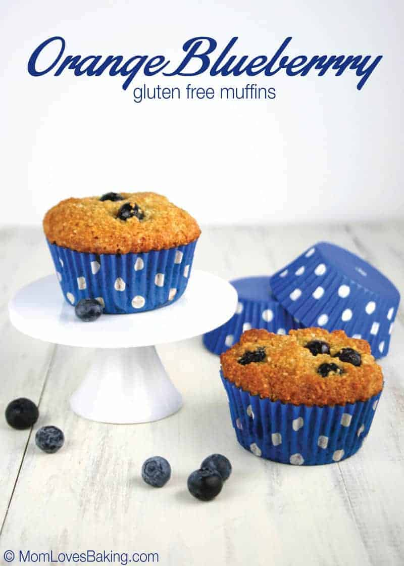 Orange Blueberry Gluten Free Muffins