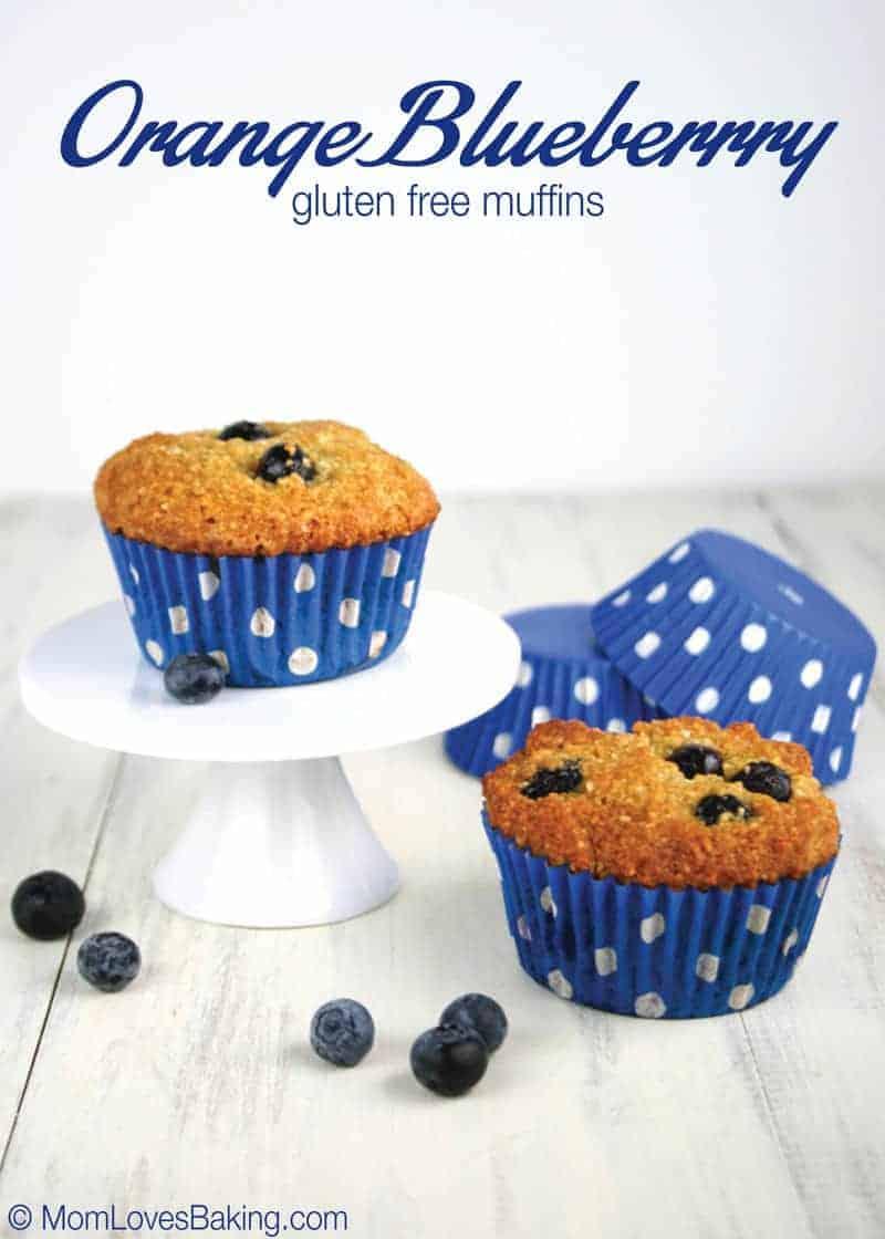 Orange Blueberry Gluten Free Muffins