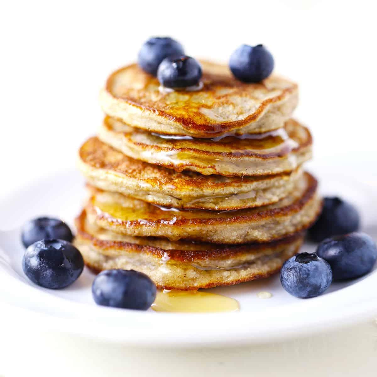Gluten-free, dairy-free, paleo silver dollar pancakes