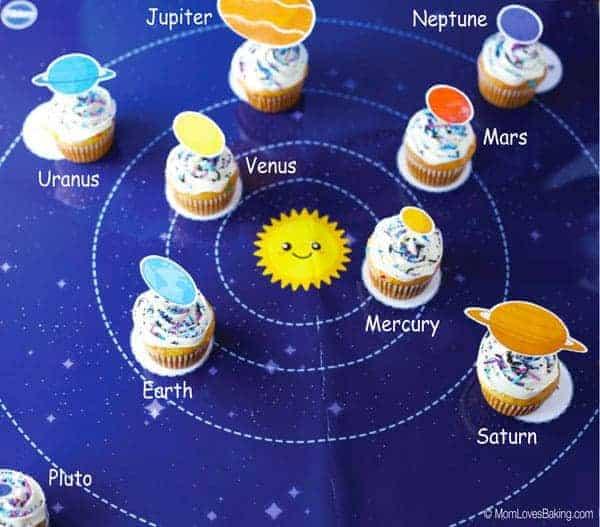 Solar System Cupcakes
