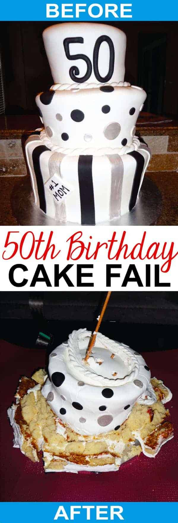 50th Birthday Cake Fail