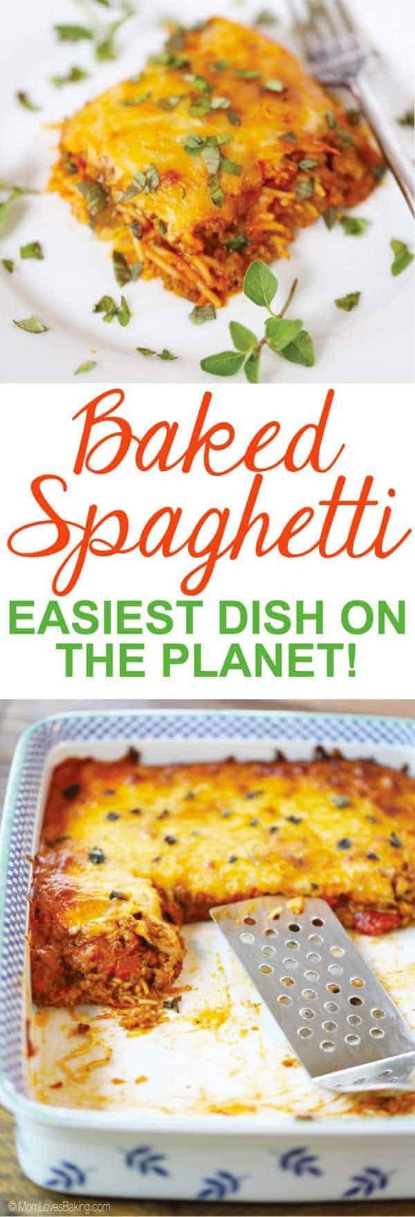 Baked Spaghetti Casserole Dish