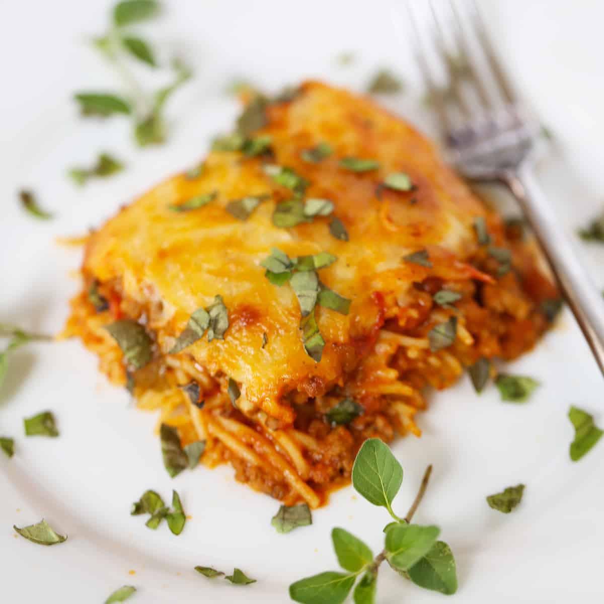 Baked Spaghetti Casserole Dinner