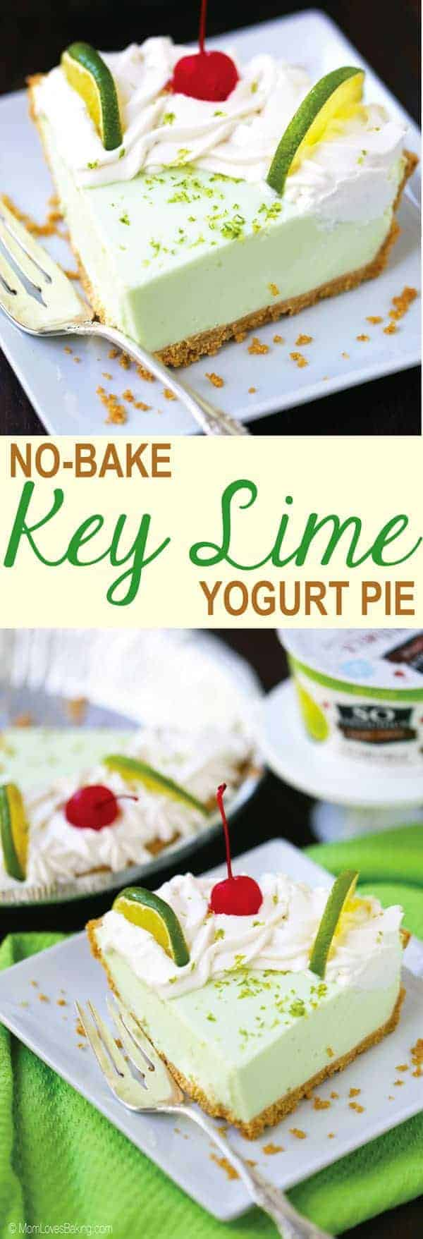 No Bake Key Lime Yogurt Pie